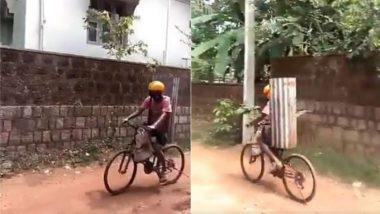 Viral Video: लॉकडाउन में पुलिस के डंडों से बचने का शख्स ने निकाला गजब का जुगाड़, वायरल वीडियो देख चकरा जाएगा आपका सिर