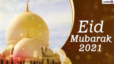 Eid al-Fitr 2021 Wishes & HD Images: ईद-अल-फितर के इन शानदार WhatsApp Stickers, GIF Greetings, Wallpapers, Photos के जरिए दें मुबारकबाद