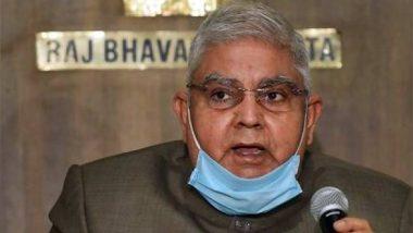 Narada case: पश्चिम बंगाल के राज्यपाल जगदीप धनखड़ ने नारद स्टिंग ऑपरेशन मामले में गिरफ्तारी को लेकर TMC सांसद कल्याण बनर्जी  के दावे पर जताई हैरानी, कही ये बात