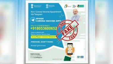 Fact Check: क्या 'MyGov Corona Vaccine Appt' का उपयोग करके टेलीग्राम पर कोविड-19 वैक्सीनेशन अपॉइंटमेंट बुक किया जा सकता है? PIB से जानें सच्चाई