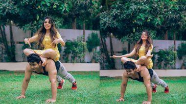 शादी के बाद Sugandha Mishra को पीठ पर बिठाकर पुशअप्स मारते दिखाई दिए Sanket Bhosale, आज का दिन इनके लिए है बेहद खास