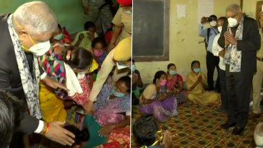 West Bengal Violence: राज्यपाल जगदीप धनखड़ ने रणपगली में कैंप का दौरा किया और लोगों से मुलाकात की