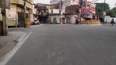 Uttar Pradesh Weekend Curfew: नोएडा में वीकेंड लॉकडाउन जारी, दुकानें बंद और सड़कें सुनसान दिखीं