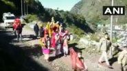 उत्तराखंड: भगवान केदारनाथ की पंचमुखी डोली ऊखीमठ के ओंकारेश्वर मंदिर से हुई केदारनाथ धाम के लिए रवाना (Watch Video)