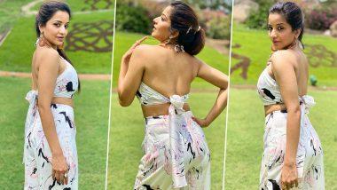 Monalisa Hot Photos: भोजपुरी एक्ट्रेस मोनालिसा ने बैकलेस ड्रेस पहनकर दिखाई हॉट अदा, देखें तस्वीरें