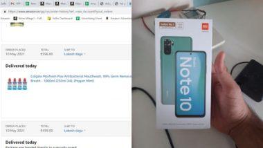 मुंबई के शख्स ने Amazon से ऑर्डर किया माउथवॉश, लेकिन घर डिलीवर हुआ Redmi Note 10 और फिर…