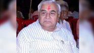 COVID ने ली एक और बीजेपी विधायक की जान, मध्य प्रदेश के रैगांव से MLA जुगल किशोर बागरी का निधन
