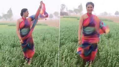 Sapna Choudhary ने साड़ी पहनकर खेत में किया डांस, सनी देओल के गाने पर जमकर झूमी