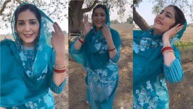 Sapna Choudhary ने खेत में सूट पहनकर किया धमाकेदार डांस, दिलकश Video हुआ Viral