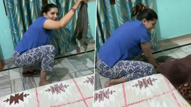 Sapna Choudhary हरयाणवी गाने सुनती हुई घर में लगाती दिखीं पोछा, Lockdown में डांसर का हुआ ऐसा हाल, देखें Video