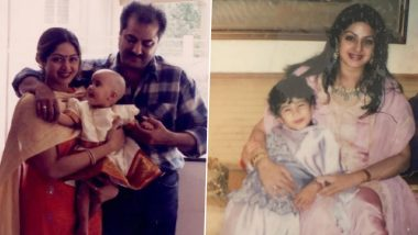 Sridevi को मदर्स डे परमिस कर रही हैं बेटी Janhvi Kapoor, शेयर की ये बचपन की ये यादगार तस्वीरें