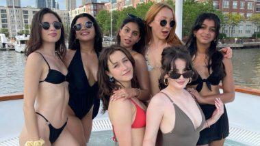 Shah Rukh Khan की बेटी Suhana Khan ने अपनी गर्लगैंग संग एन्जॉय किया पूल डेट, देखें Hot Photos