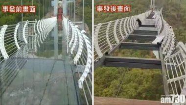 Shocking! चीन के ग्लास ब्रिज पर चल रहा था टूरिस्ट, अचानक चली हवा, उसके बाद जो हुआ...देखें तस्वीरें