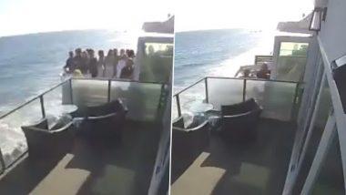 Viral Video: Beach हाउस की बालकनी में खड़े थे लोग, उसके बाद हुआ कुछ ऐसा हादसा, वीडियो देख दहल जाएगा दिल