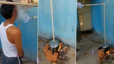 Desi Jugaad Video: स्टीम लेने के लिए इस शख्स ने प्रेशर कुकर के साथ किया जबरदस्त देसी जुगाड़, देखें वीडियो
