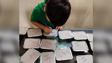 COVID मरीजों के लिए अपनी मां द्वारा बनाए गए खाने के डिब्बों पर छोटे लड़के ने लिखा ये प्यारा नोट, नेटीजन्स का जीता दिल