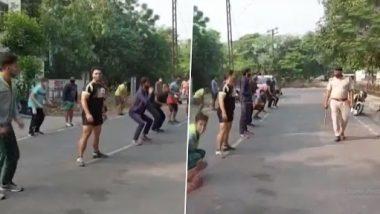 Haryana: अंबाला में पूर्ण लॉकडाउन का उल्लंघन करने वाले से पुलिस ने करवाया सिट-अप, देखें वीडियो