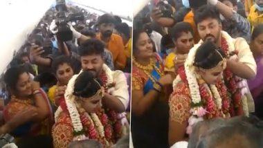 Viral Video: कोविड प्रतिबंधों से बचने के लिए मदुरै के इस जोड़े ने उड़ते विमान में रचाई शादी, देखें वीडियो
