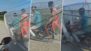 Desi Jugaad Video: कोरोना से बचने के लिए शख्स ने बाइक के साथ किया कुछ ऐसा जुगाड़, वीडियो देख कहेंगे क्या बात!