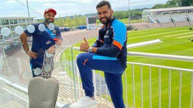 टीम इंडिया पहुंची इंग्लैंड, Rohit Sharma ने Rishabh Pant के साथ साउथैमप्टन से शेयर की खूबसूरत तस्वीर