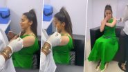 साउथ एक्ट्रेस Raai Laxmi के कोरोना वैक्सीन लगवाते समय छूटे पसीने, Video देख लोग बोले- ओवर एक्टिंग कर रही हैं