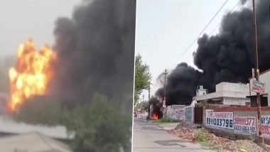 Fierce fire broke out in chemical company, 15 fire engines found control