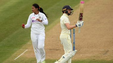 IND (W) vs ENG (W) 1st Test Day 1: Fifties from Captain Heather Knight and Tammy Beaumont, England scored 6/269 on the first day