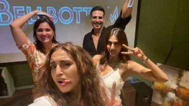 Bell Bottom की स्क्रीनिंग से सामने आई Akshay Kumar, Huma Qureshi, Vani Kapoor और Lara Dutta की ये मजेदार सेल्फी