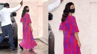 Alia Bhatt arrives at Sanjay Leela Bhansali's office before the shooting of Gangubai Kathiawadi, see photos