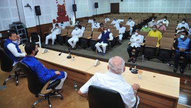 karnataka Politics: बेंगलुरु में सीएम बीएस येदियुरप्पा और बीजेपी प्रभारी अरुण सिंह समेत अन्य राज्य मंत्रियों के बीच हुई हाई वोल्टेज मीटिंग
