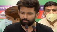 चाचा पशुपति कुमार पारस की धोखेबाजी से आहत हैं चिराग पासवान, कहा-'अनाथ महसूस कर रहा हूं'