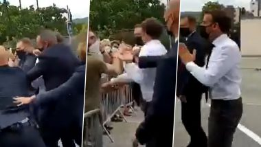 French President Emmanuel Macron was publicly slapped in a crowd, two people were detained (Watch Video)