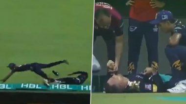 PSL 2021: क्षेत्ररक्षण के दौरान पाकिस्तानी खिलाड़ी से टकराकर बुरी तरह से घायल हुए Faf du Plessis, अस्पताल में कराया गया भर्ती, देखें वीडियो