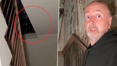 Scary Video: सालों से बंद पड़ी इमारत में घूमते समय शख्स को दिखा भूत, कैमरे में कैद इस खौफनाक पल का वीडियो हुआ वायरल