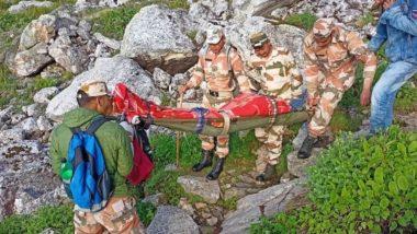 हिमाचल प्रदेश: ITBP के जवानों ने कुल्लू जिले में श्रीखंड महादेव मार्ग से ट्रेकिंग के लिए गए एक घायल शख्स को किया रेस्क्यू