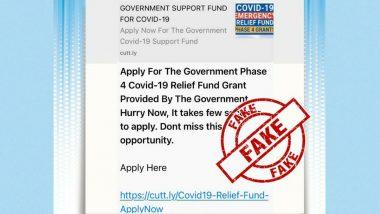 Fact Check: व्हाट्सएप पर वायरल मैसेज में दावा- केंद्र सरकार कोरोना के चौथे चरण के लिए दे रही है रिलीफ फंड, जानें खबर की सच्चाई