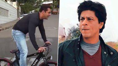 World Bicycle Day 2021: Shah Rukh Khan के 'मन्नत' बंगलेपर साइकिल चलाकर पहुंचे Salman Khan,देखें ये मजेदार थ्रोबैक Video