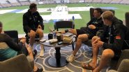 ICC WTC Final 2021: साउथम्प्टन में बारिश के बीच कॉफी का आनंद ले रहे हैं किवी खिलाड़ी, देखें तस्वीर