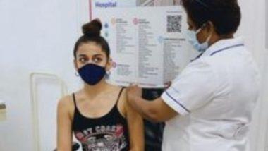 Alaya F ने लगवाई कोरोना वैक्सीन की पहली डोज, फोटो की शेयर