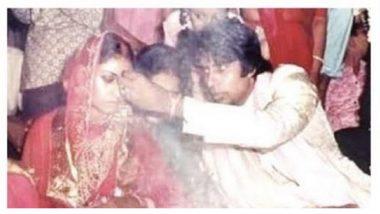 Jaya Bachchan के मांग में सिंदूर भरते Amitabh Bachchan की ये खूबसूरत फोटो आई सामने, शादी की सालगिरह पर बिग बी ने किया शेयर