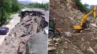 Uttarakhand: भारी बारिश के चलते चंपावत में टनकपुर-पिथौरागढ़ हाईवे पर भूस्खलन, सड़कें जाम होने से यातायात बाधित