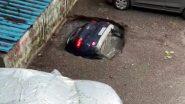 घाटकोपर में देखते ही देखते पल भर में सिंकहोल में समा गई पूरी कार, देखें वीडियो
