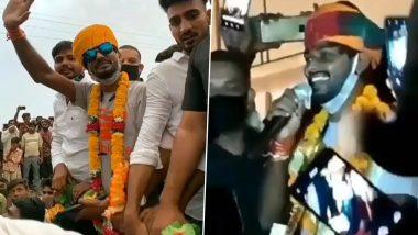 Indian Idol 12 से बाहर हुए सवाई भट्ट का होमटाउन में हुआ जोरदार स्वागत, देखें Video