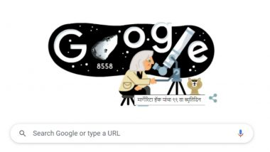 Margherita Hack Google Doodle: 99th birthday of 'The Lady of the Stars', Google dedicated a special doodle to Italian professor and astrophysicist Margherita Hack