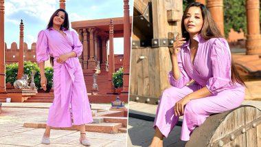 भोजपुरी एक्ट्रेस Monalisa ने गुलाबी ड्रेस में खूबसूरत Photos पोस्ट कर फैंस से कहा- Good Morning (See Pics)