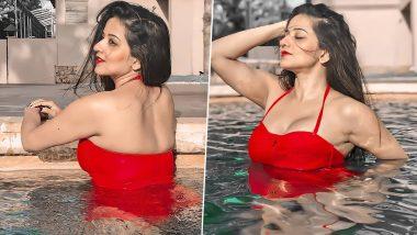 Monalisa Hot Photos: रेड आउटफिट पहनकर स्विमिंग पूल में उतरीं भोजपुरी एक्ट्रेस मोनालिसा, दिखा बेहद हॉट अवतार