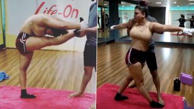 Rakhi Sawant ने हॉट स्पोर्ट्स ब्रा पहनकर किया योगा, Video देखकर दंग हुए फैंस