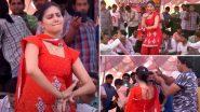 Sapna Choudhary Dance Video: हरयाणवी डांसर सपना चौधरी ने लाल सूट पहनकर अपने डांस से लूटी महफिल, वायरल हुआ वीडियो