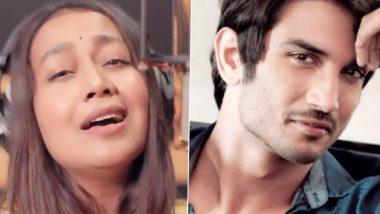 Sushant Singh Rajput को Neha Kakkar का म्यूजिकल ट्रिब्यूट,जान निसार सॉन्ग गाते हुए शेयर किया Video
