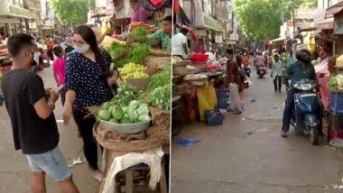 हैदराबाद: तेलंगाना में आज से COVID लॉकडाउन प्रतिबंध पूरी तरह से हटेम बाजारों में उमड़ी भीड़, देखें तस्वीरें